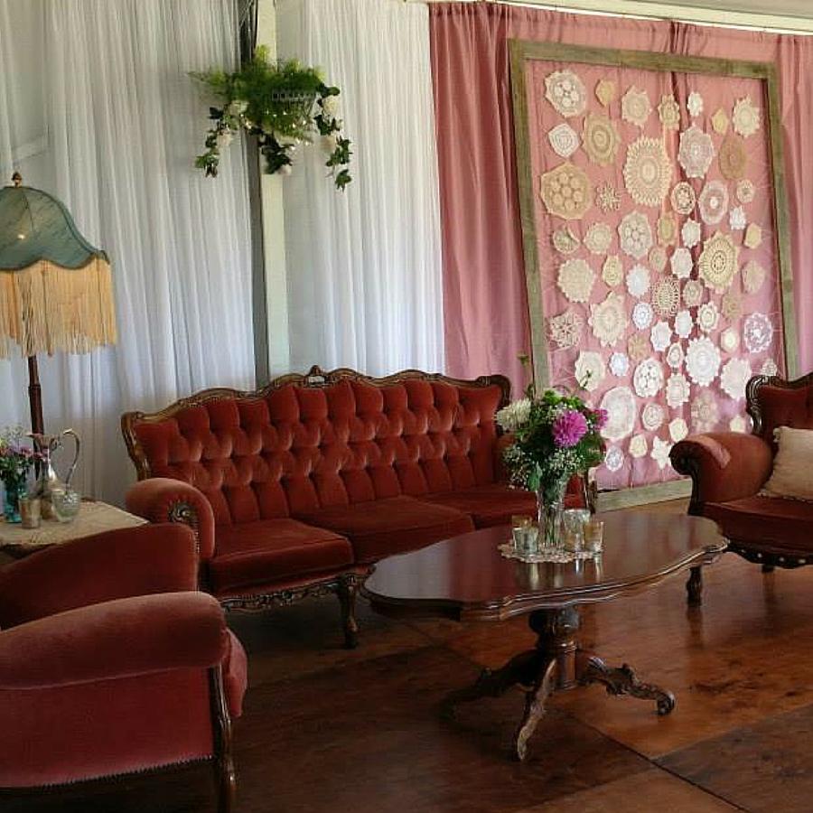velvet louis lounge setting