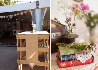 Wedding venue props and pretty hire pieces