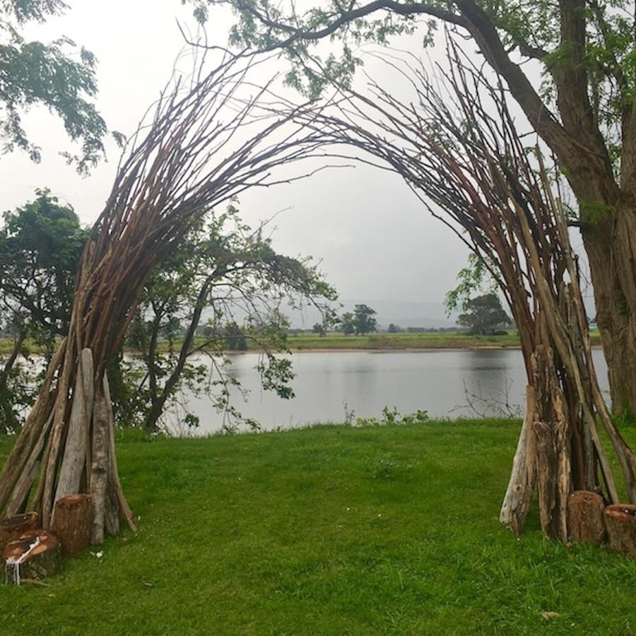 stick wedding arch