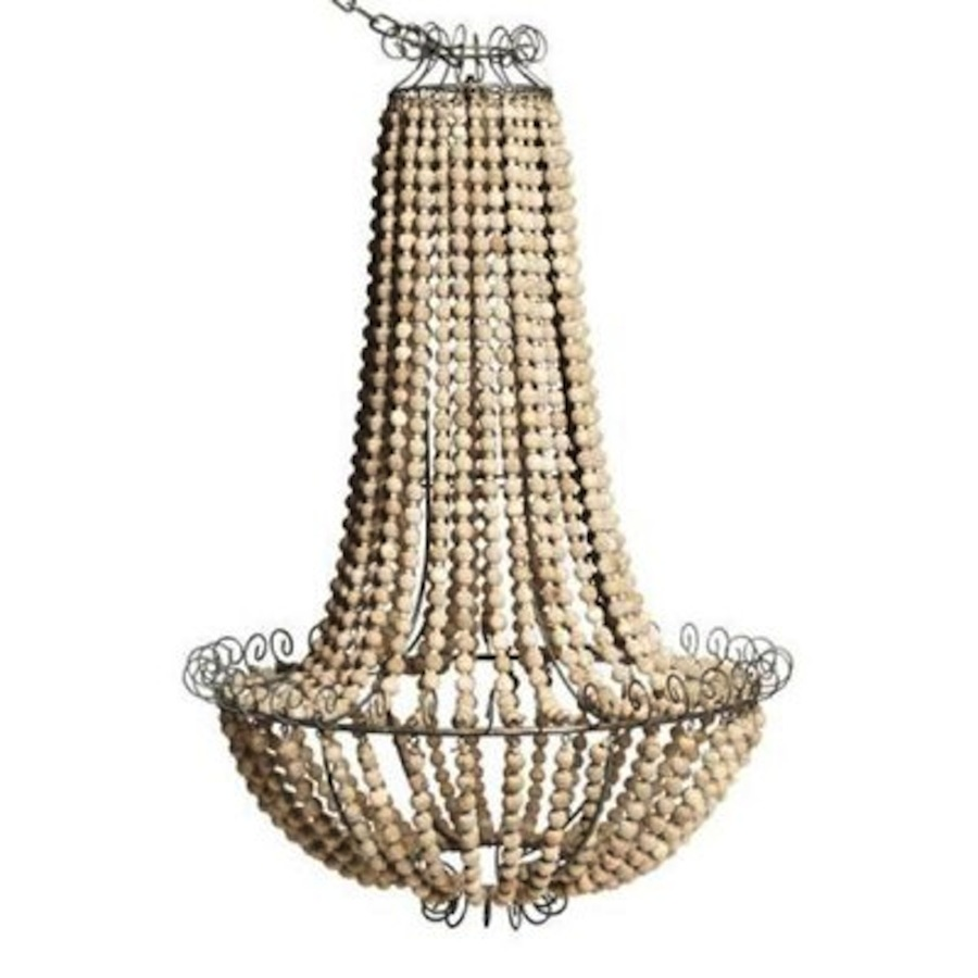 beaded chandelier