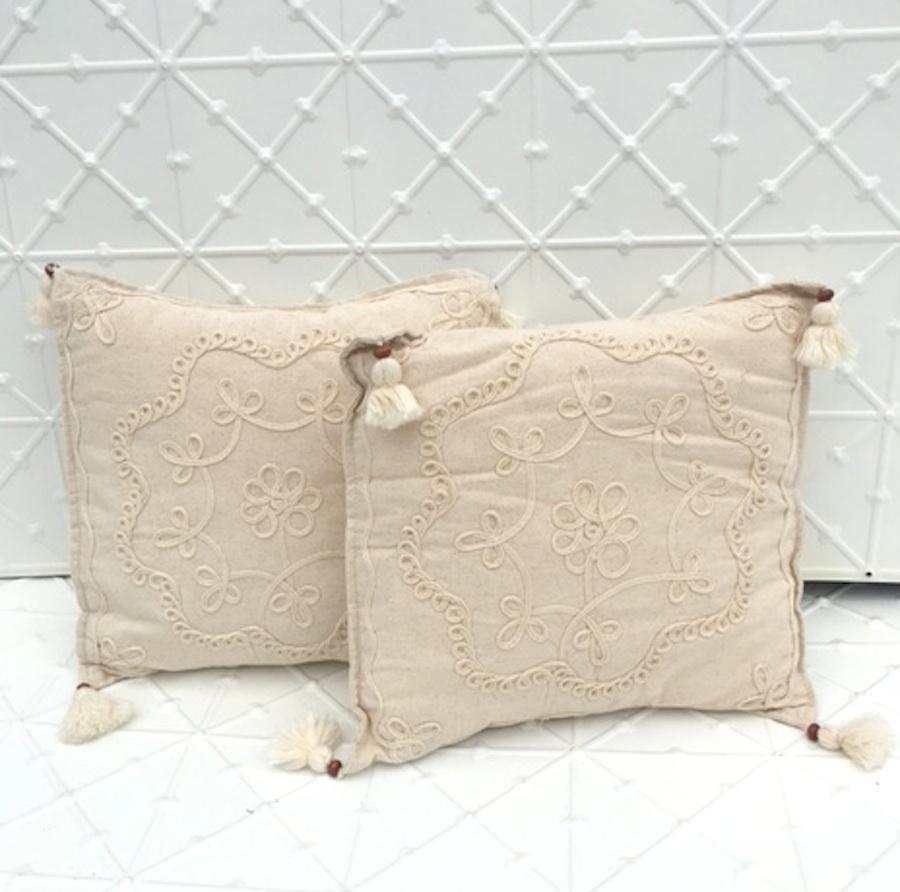Boho natural cushion