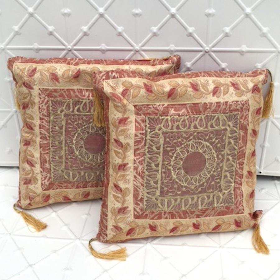 Boho gold patterned cushion
