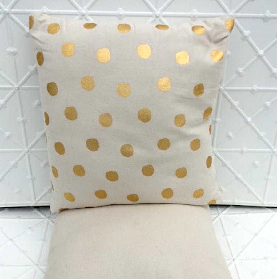 Gold dot cushion