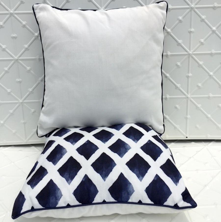 Indigo pattern cushion