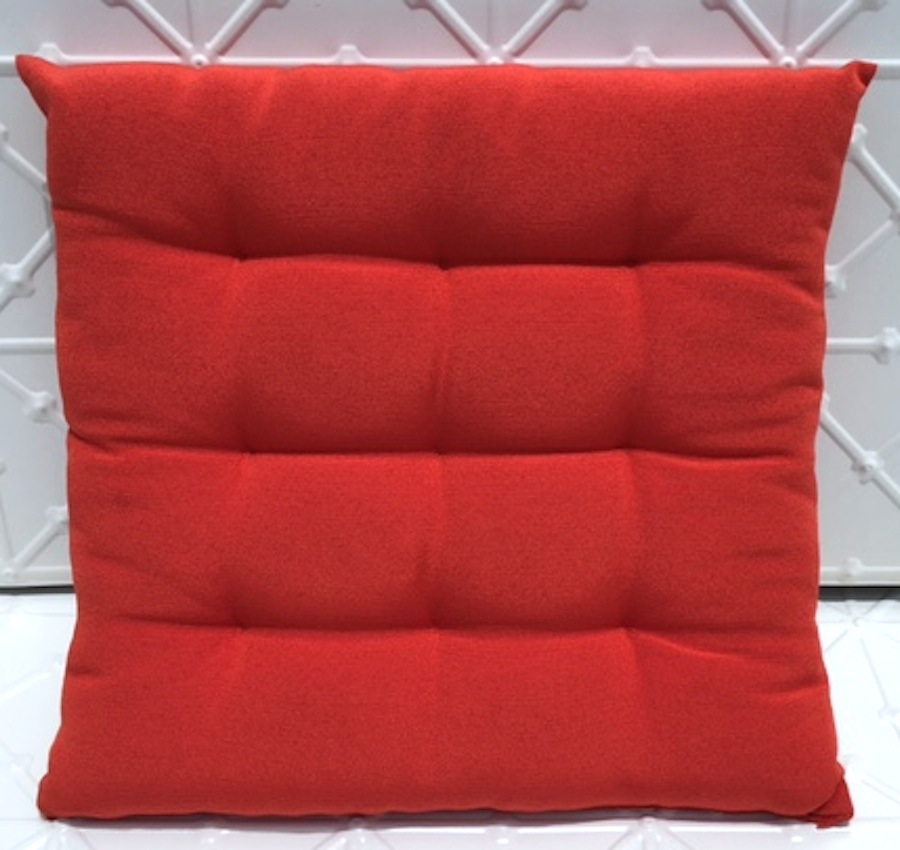 red seat cushion