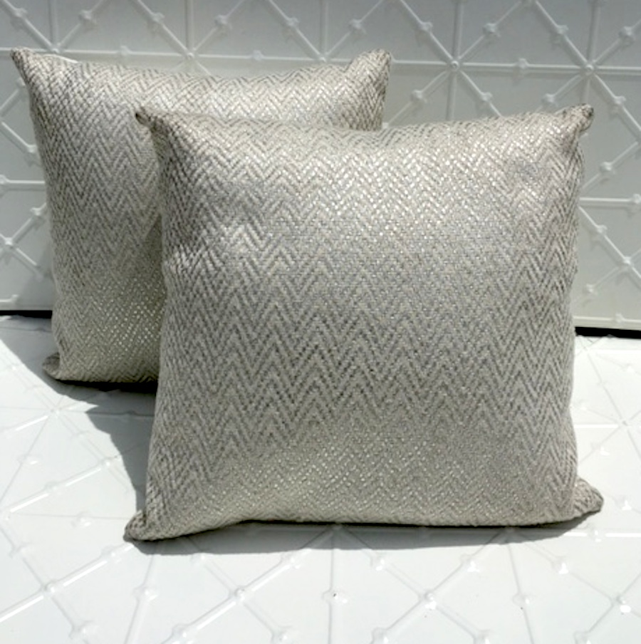 Silver cushion for hire