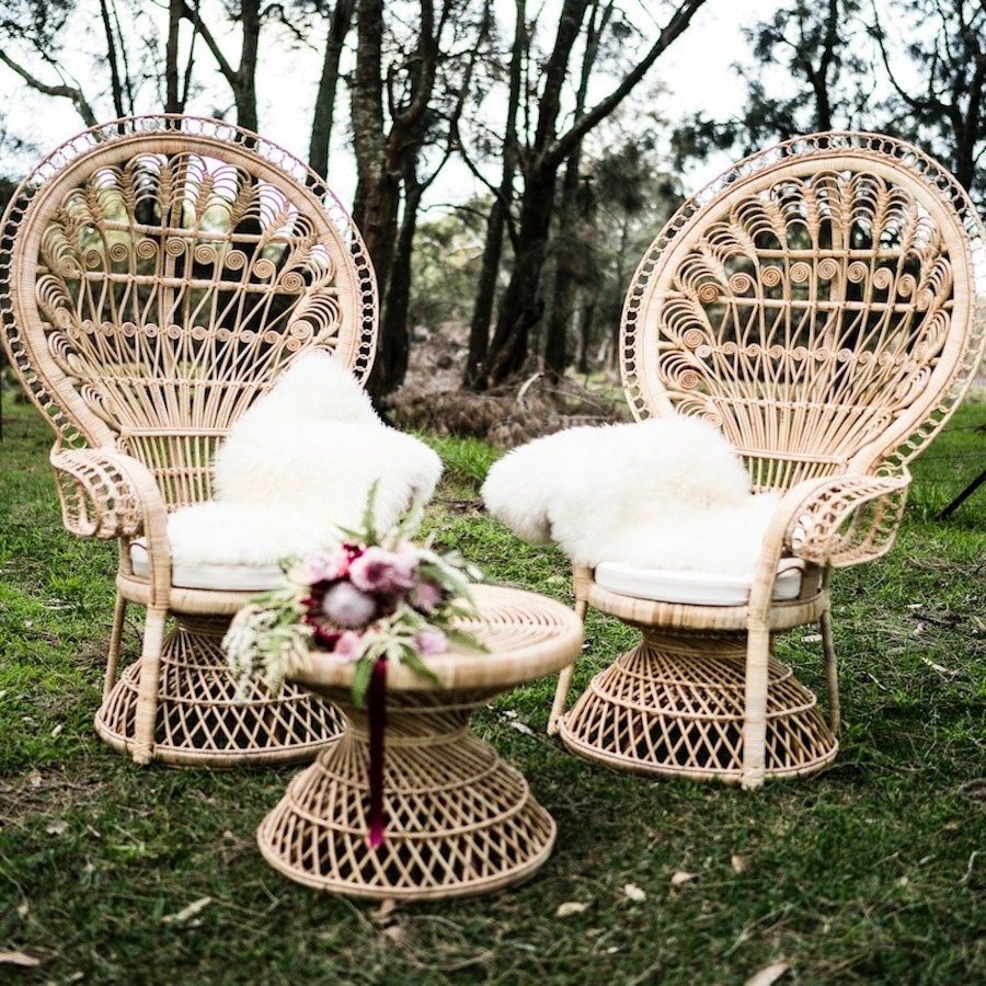 Natural Peacock  Chairs