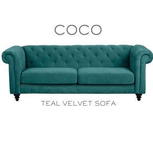 Coco Velvet Sofa
