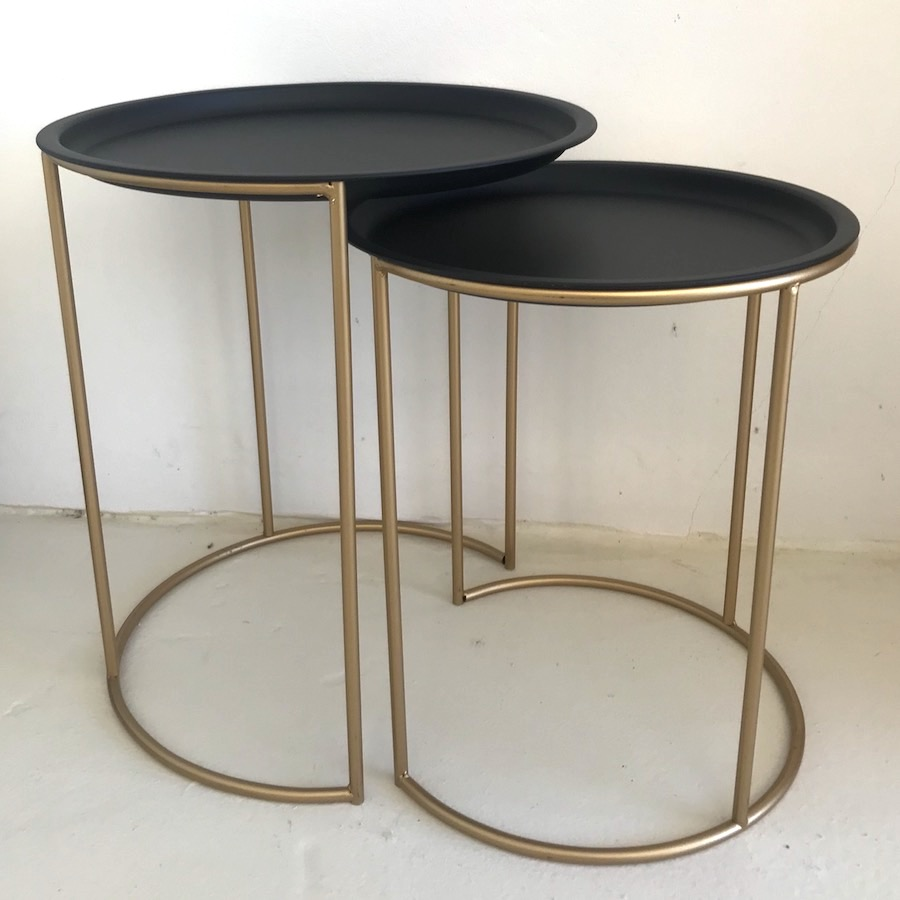 Black & Gold Side Tables