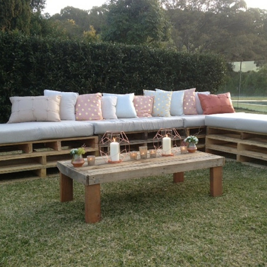 south coast wedding hire pallet day bed