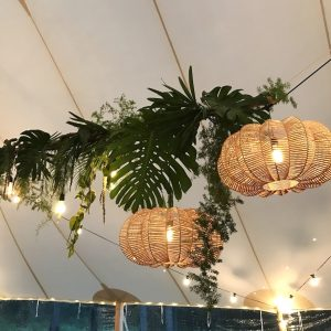 Rattan Flat Light Shades