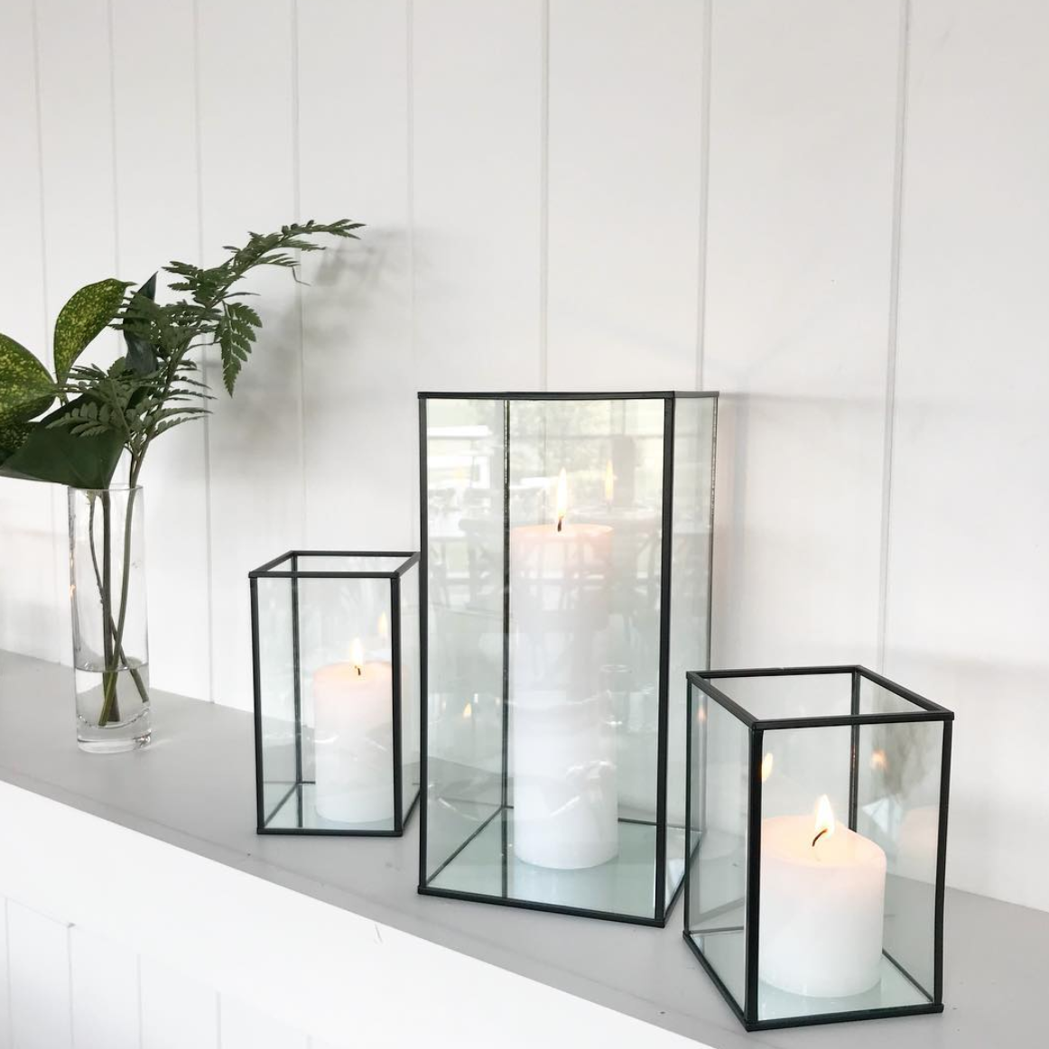 Glass Candle Boxes Large