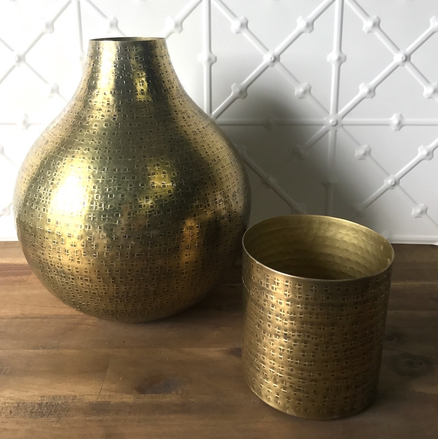 Small Brushed Gold Vase