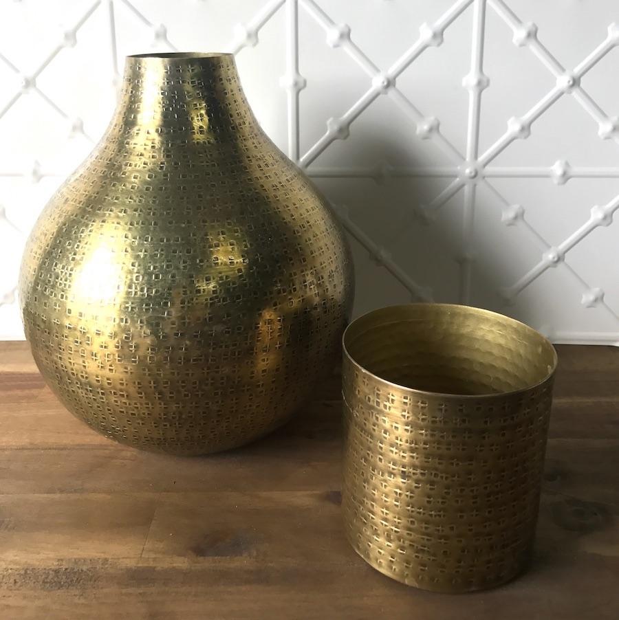 Large Gold Vase