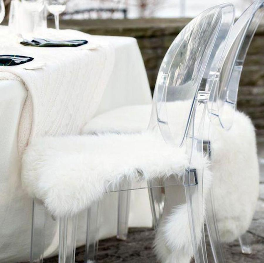 Synthetic Fur Chair Covers