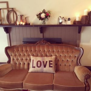 Vintage Velvet Champagne Lounge Seat