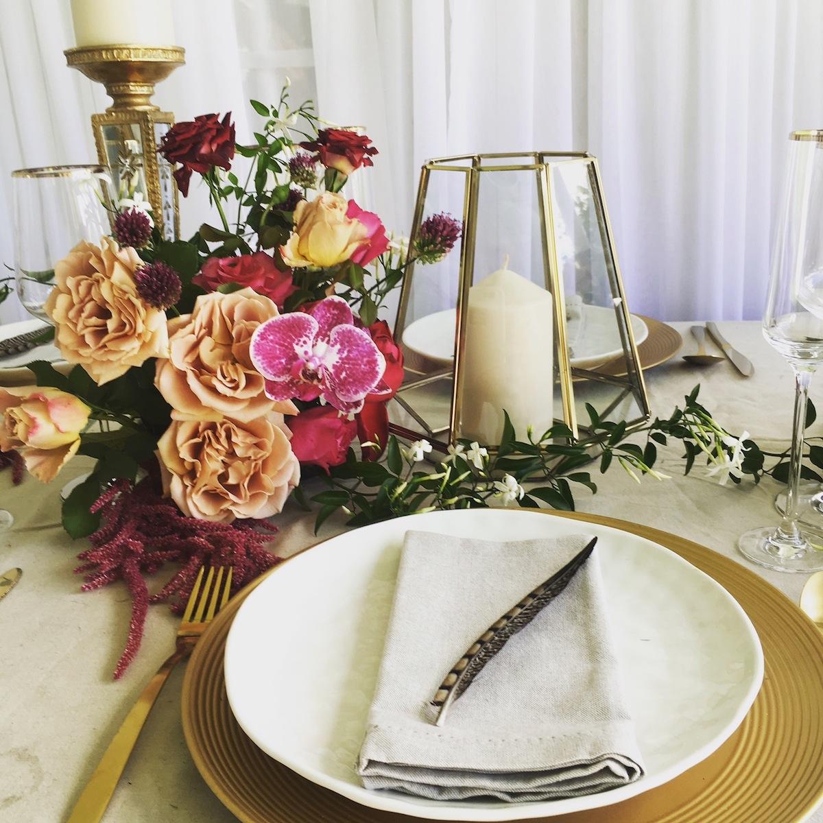 wedding table decoration hire hurricane lamp