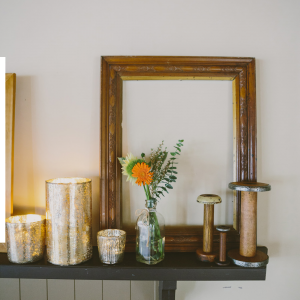 Gold Lustre Candle Holders