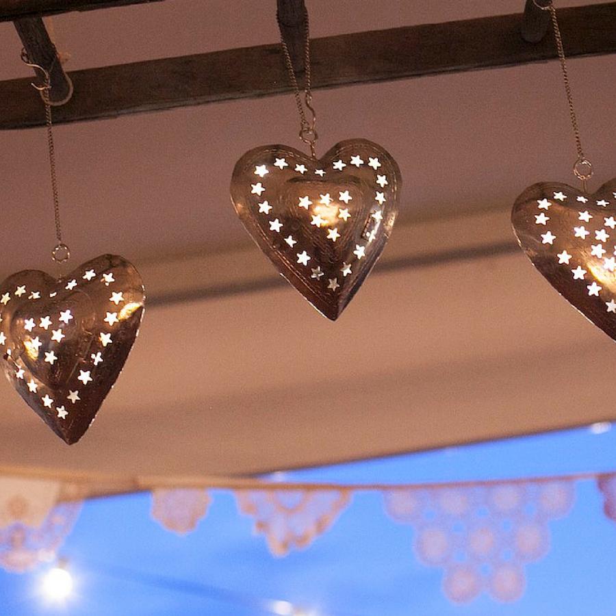 Hanging heart lanterns