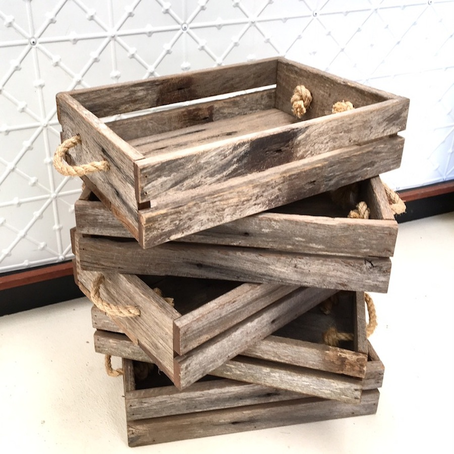 rustic crates for hire -south coast