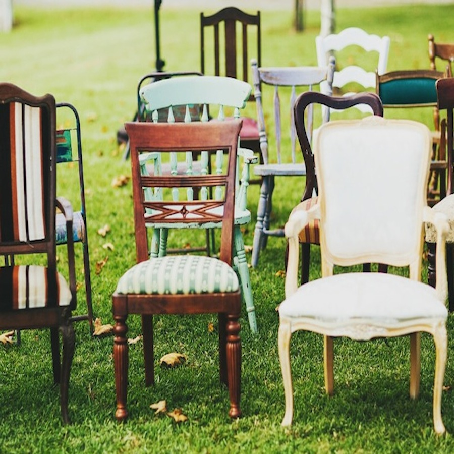 Mismatched Vintage Chairs