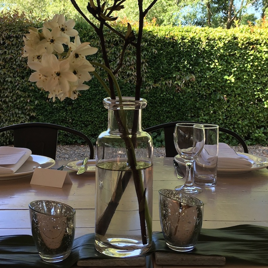 Rolled Edge Glass Vase