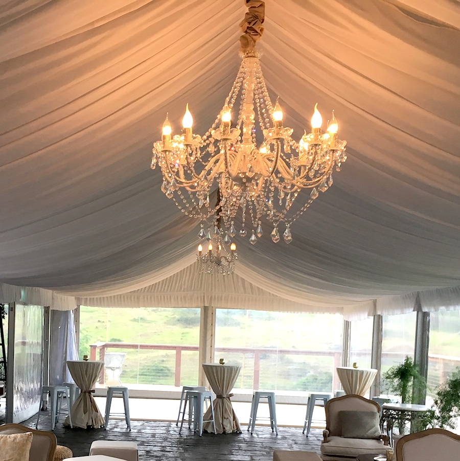 12 Arm White Crystal Chandelier
