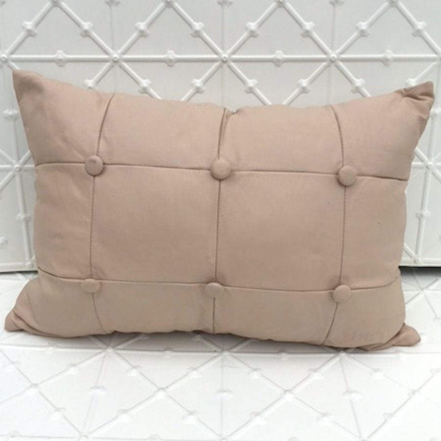 Blush Leather Cushion