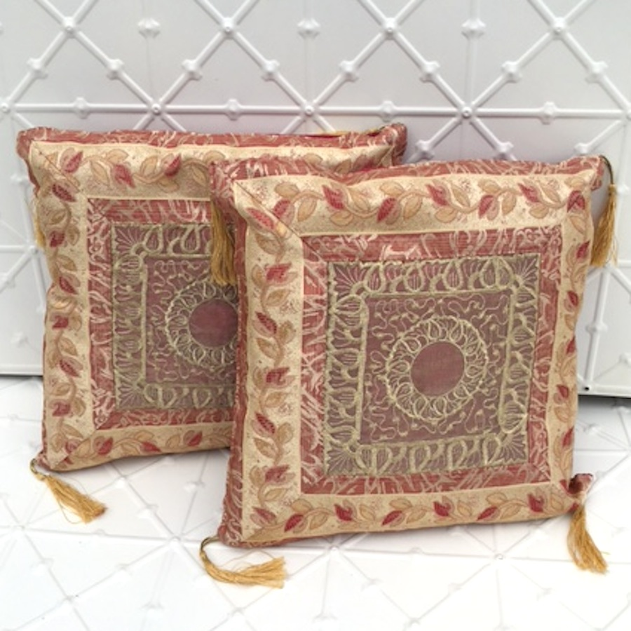 Boho Gold Silk Cushions