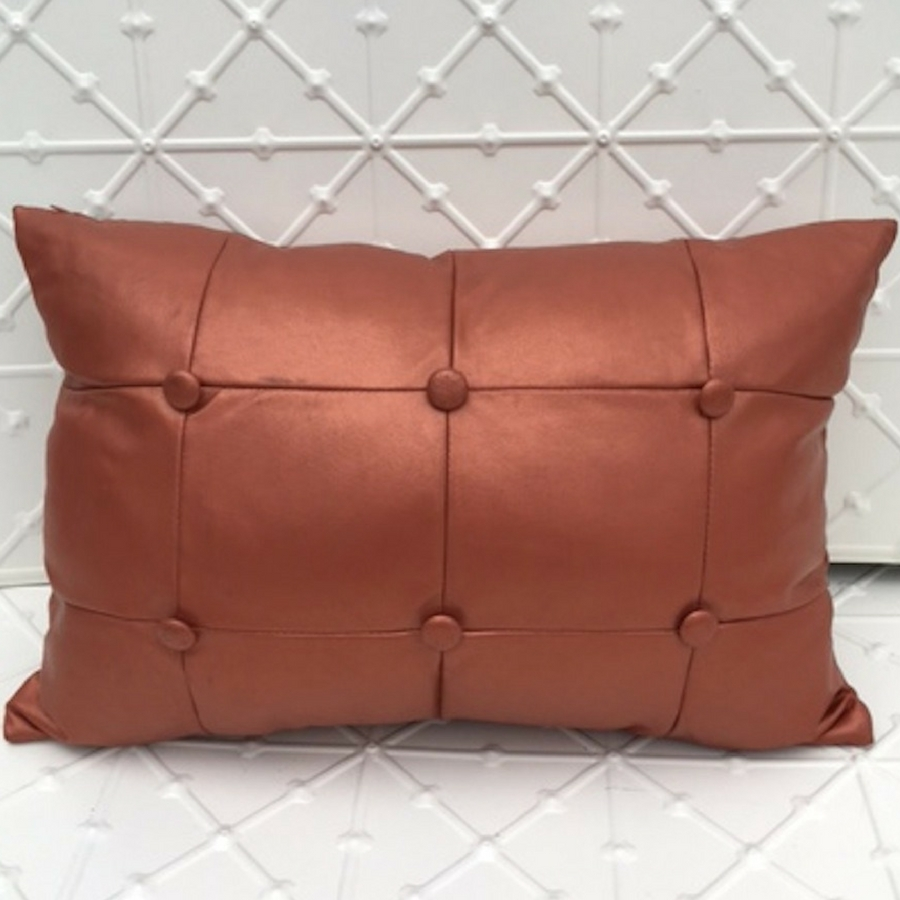 Bronze Leather Cushion
