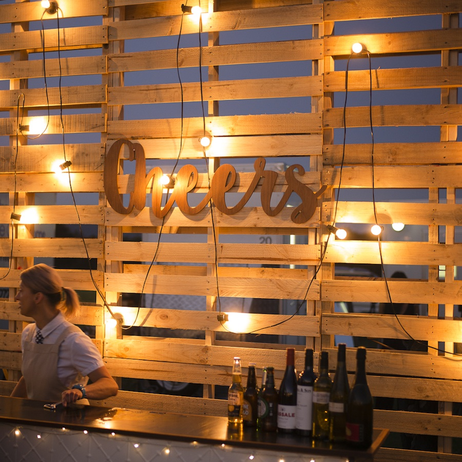 Cheers Plywood Sign