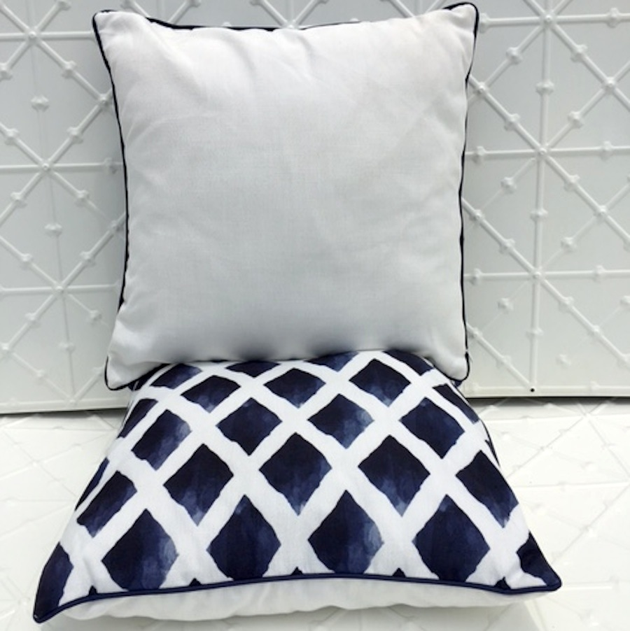Indigo Patterned Cushions