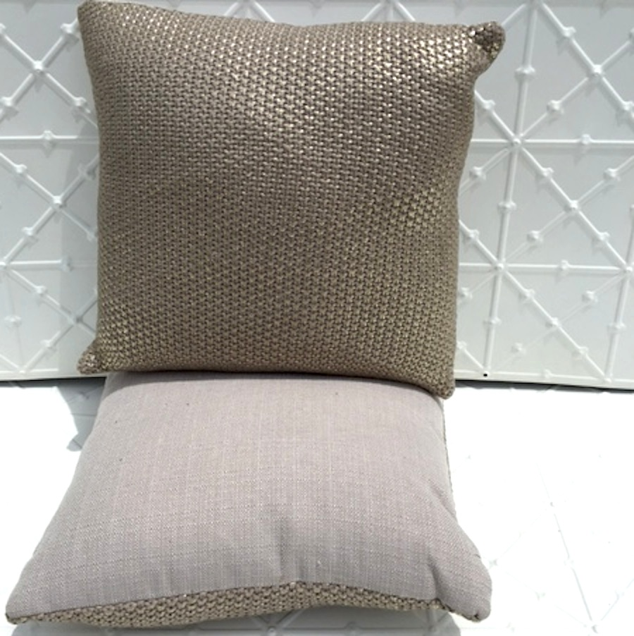 Metallic Knit Cushion