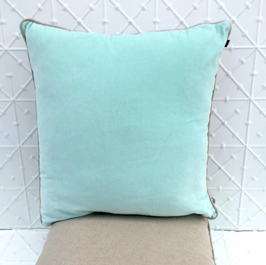 Mint Velvet & Linen Cushion