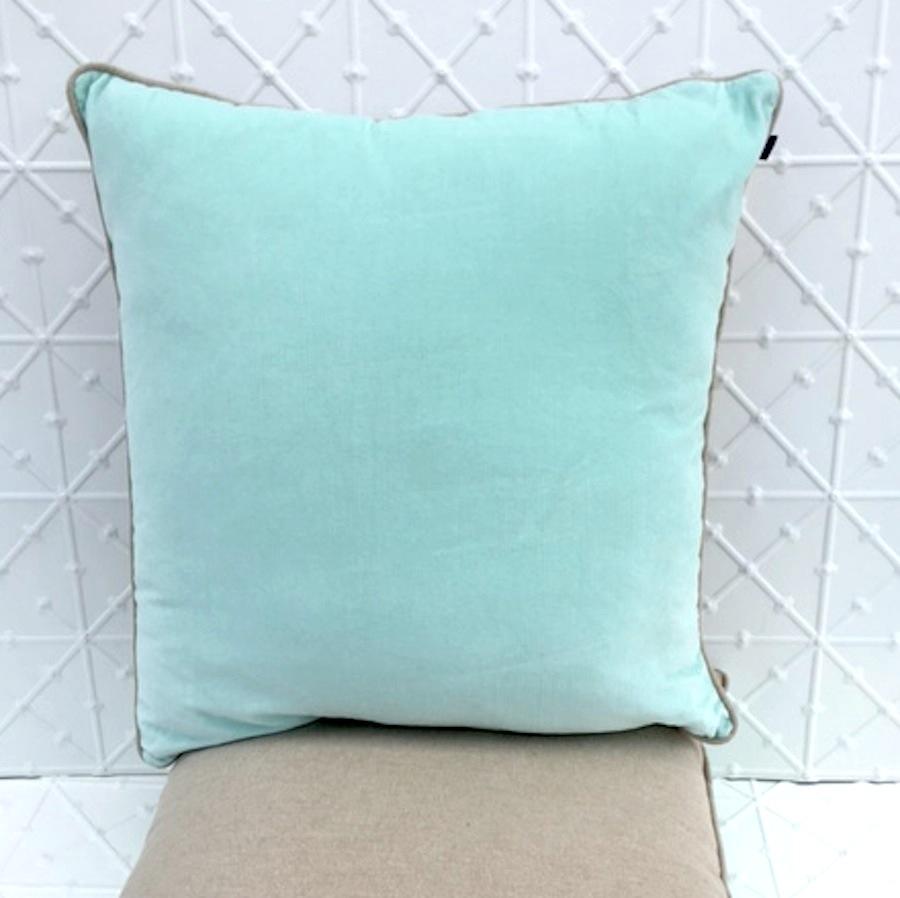 Mint Velvet & Linen Cushion