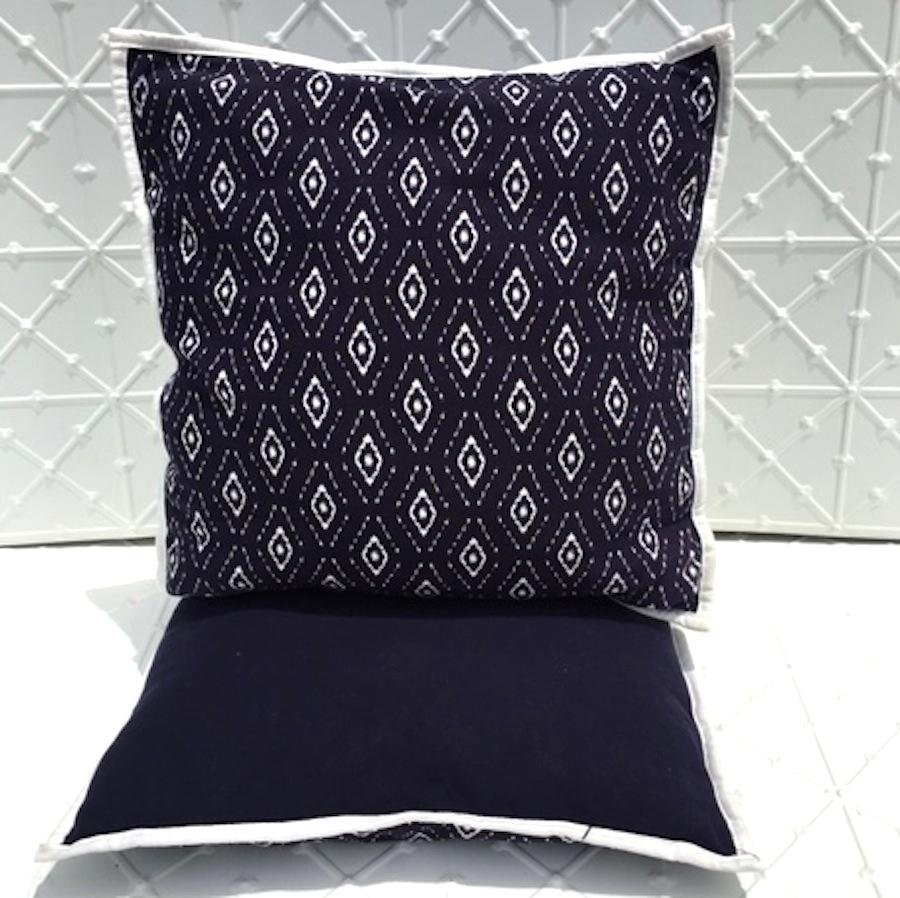 Navy Aztec Cushions
