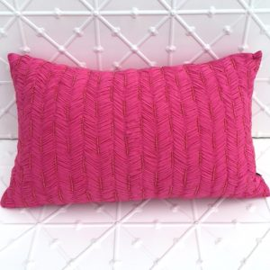Pink Rouched Cushions