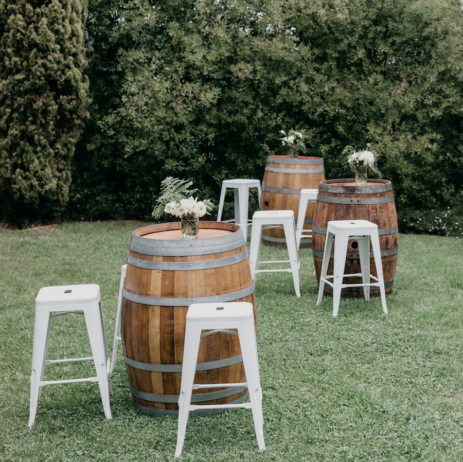 White Tolix Bar Stools