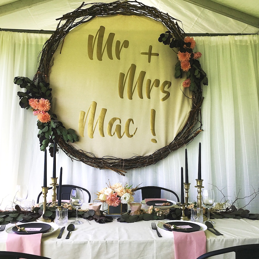 Custom Wreath Backdrop