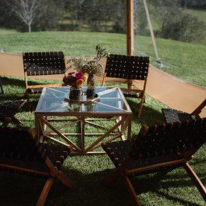 Black Woven Chair