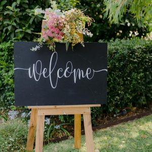Chalk Welcome Sign