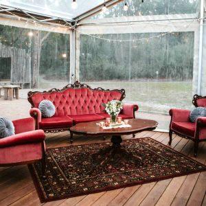 Vintage Velvet Louis Lounge Set