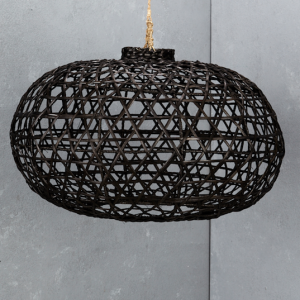 Black Bamboo Light Shade